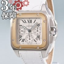 Cartier Santos 100 Yellow gold Silver