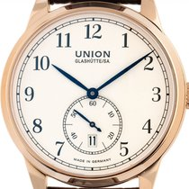 Union Glashütte 1893 Small Second Rose gold 41mm White Arabic numerals