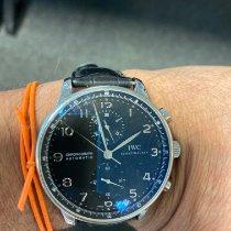 IWC Portuguese Chronograph usados 41mm Azul Piel de aligátor
