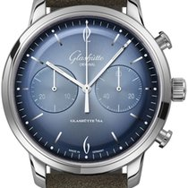 Glashütte Original Sixties Chronograph Steel 42mm Blue United States of America, New York, Airmont