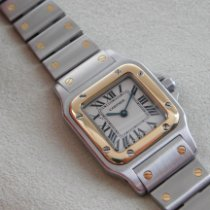 Cartier Santos Galbée Gold/Stahl 24mm Weiß Römisch Deutschland, Buxtehude