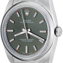 Rolex Oyster Perpetual 34 Steel 34mm Green No numerals United States of America, Texas, Dallas