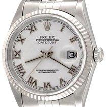 Rolex Datejust Zeljezo 36mm Bjel Rimski brojevi