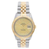 Rolex Datejust Turn-O-Graph Arany/Acél 36mm Pezsgőszínű Számjegyek nélkül