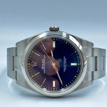 Rolex Oyster Perpetual 39 Acier 39mm Bleu Sans chiffres