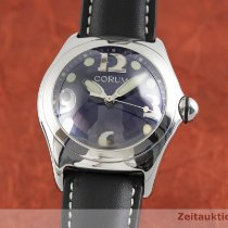 Corum Bubble Stal 44.5mm Niebieski