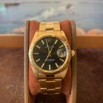 Rolex Oyster Perpetual Date Or jaune 34mm Noir Sans chiffres France, Cannes