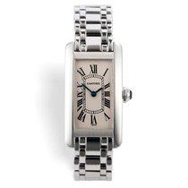Cartier White gold Quartz White Roman numerals 19mm pre-owned Tank Américaine