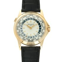 Patek Philippe World Time Yellow gold 37mm Silver United States of America, California, Beverly Hills