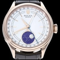 Rolex Cellini Moonphase Roségoud 39mm Wit Geen cijfers