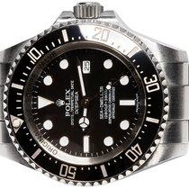 Rolex Sea-Dweller Deepsea подержанные 44,00mm Черный Дата Сталь