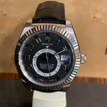 Rolex Sky-Dweller occasion 42mm Noir Date Cuir