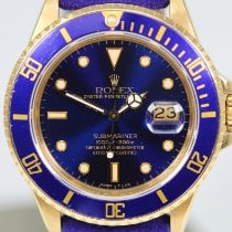 Rolex 16808 Yellow gold 1987 Submariner Date 40mm pre-owned United States of America, Florida, Miami Beach