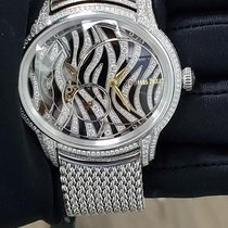 Audemars Piguet White gold Manual winding Black No numerals 39.5mm new Millenary Ladies