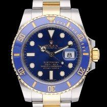 Rolex Submariner Date Arany/Acél 40mm Kék Számjegyek nélkül
