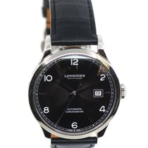 Longines Record pre-owned 40mm Black Steel