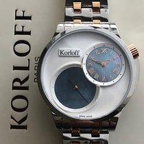 Korloff nuevo Cuarzo Pequeño segundero 42mm Acero