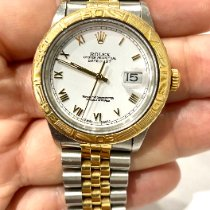 Rolex Datejust Turn-O-Graph Arany/Acél 36mm Fehér Római