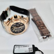 Audemars Piguet Aur roz Atomat Maron 42mm nou Royal Oak Offshore Chronograph