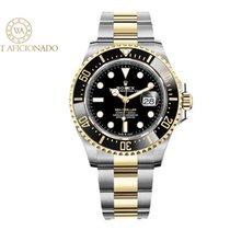 Rolex Sea-Dweller Золото/Cталь 43mm Чёрный Без цифр