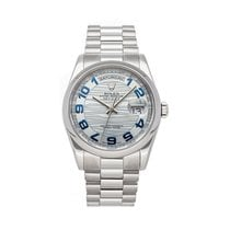Rolex Day-Date 36 Platinum 36mm Blue Arabic numerals