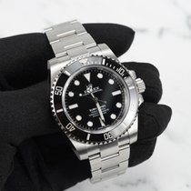 Rolex Submariner (No Date) Aço 40mm Preto Sem números
