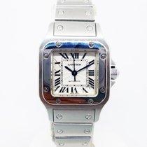 Cartier Santos Galbée Stal 24mm Srebrny Rzymskie