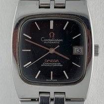 Omega Constellation pre-owned 33mm Black Date Steel