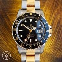 Rolex GMT-Master Золото/Cталь 40mm Чёрный