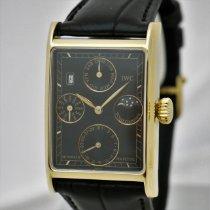 IWC Novecento Yellow gold 27mm Black No numerals