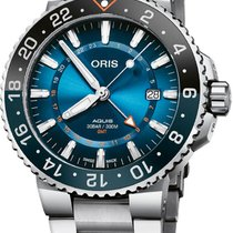 Oris Aquis GMT Date Acero 43.5mm Azul