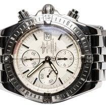 Breitling Chronomat Evolution Acier 44,00mm Blanc Sans chiffres