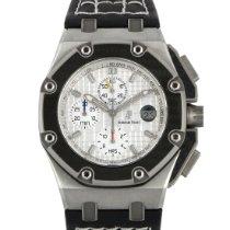 Audemars Piguet Royal Oak Offshore Chronograph occasion 42mm Argent Chronographe Date Cuir