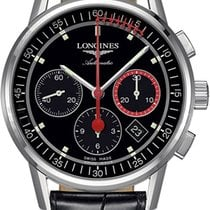 Longines Column-Wheel Chronograph Steel 41mm Black United States of America, California, Moorpark