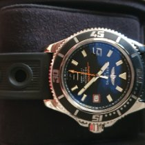 Breitling Superocean 44 Сталь Чёрный Aрабские