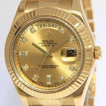 Rolex Day-Date II Gelbgold 41mm Champagnerfarben