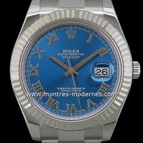 Rolex Datejust II Acier 41mm Bleu Romains France, Paris