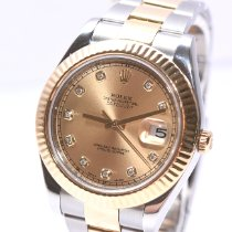 Rolex Datejust II Acero y oro 41mm Oro Sin cifras