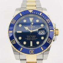 Rolex Acero Automático Azul Sin cifras 40mm usados Submariner Date