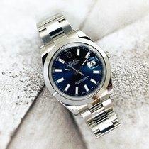 Rolex Datejust II occasion 41mm Bleu Date Acier