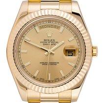 Rolex Day-Date II Жёлтое золото 41mm Цвета шампань