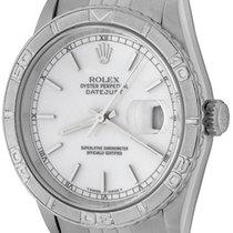 Rolex Datejust Turn-O-Graph Stahl 36mm Weiß Keine Ziffern