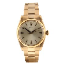 Rolex Rose gold Automatic Champagne pre-owned Oyster Perpetual 31