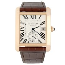 Cartier Red gold Automatic Silver Roman numerals 34mm pre-owned Tank MC