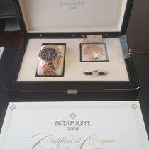 Patek Philippe Perpetual Calendar Chronograph Ouro rosa 41mm Preto Sem números