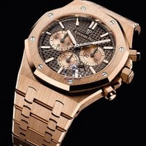 Audemars Piguet Royal Oak Chronograph Oro rosa 41mm Marrón Sin cifras