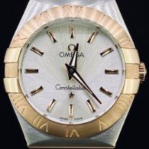 Omega Constellation Quartz Goud/Staal 27mm Zilver Geen cijfers