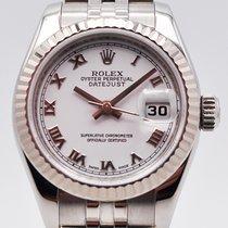 Rolex Acero Automático Blanco Romanos 26mm usados Lady-Datejust