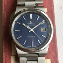Omega Steel Automatic Blue pre-owned Genève