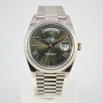 Rolex Day-Date 40 Witgoud 40mm Groen Romeins Nederland, Franeker